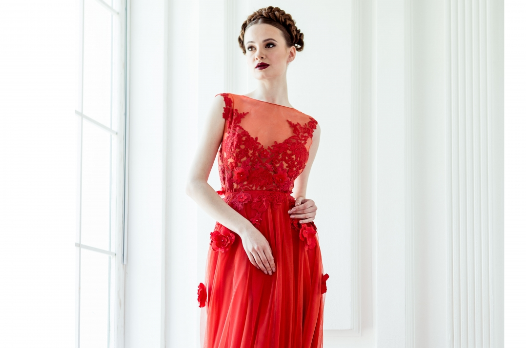 41b6b8f56414abb Красное вечернее платье